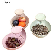 CTREE New Creative Lazy Fruit Plate Basket Home Coffee Table Candy Melon Dish Salad Versatile Drain C603