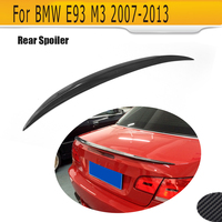 carbon fiber convertible rear trunk spoiler lip wing for BMW 325 328 330 335 2007 2013 P style