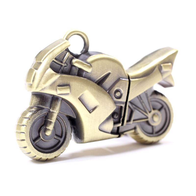 NOVA Moda Motocicleta Cle USB do Metal 8 GB-32 GB Flash Drive de Memória  3.0 vara Pen Drive 64 GB 128 GB 512 GB Menino Presente Creativo 1 TB 2 TB 94a0459c3393a