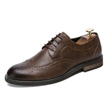 hot deal buy lefoche 2018 men's leather cap toe lace up oxford dress shoes classic modern business casual shoes for men