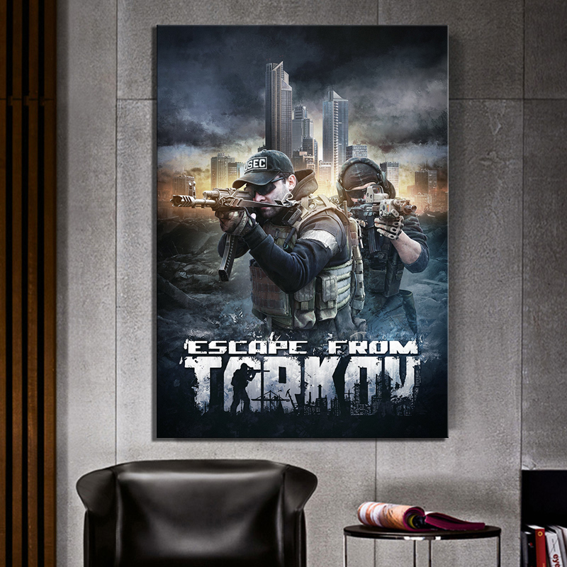 Wall Artwork Print Painting Home Decor 1 Panel Video Game Escape From Tarkov Solider Poster Modular Pictures Modern Living Room in Painting Calligraphy from Home Garden