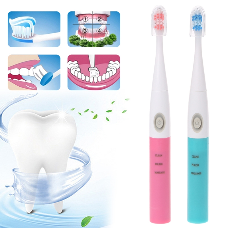 Sonic Electric Toothbrush Adult Automatic Soft-bristled Portable Battery Power image