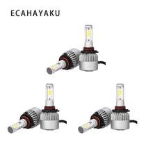 цены на ECAHAYAKU 3 sets LED Headlight Bulbs H4 Hi-Lo Beam  H7 H11 H1 H3 9005 9006 S2 COB  6500K Headlamp Car Led Lights Bulb 12v 24v  в интернет-магазинах