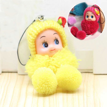Cute Kids Plush Dolls Cartoon keychain Soft Stuffed Toys keyring Mini Plush Animals key chain baby For girls women