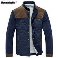 Mountainskin primavera outono jaqueta masculina uniforme de beisebol fino casaco casual dos homens roupas marca moda casacos masculino outerwear sa507
