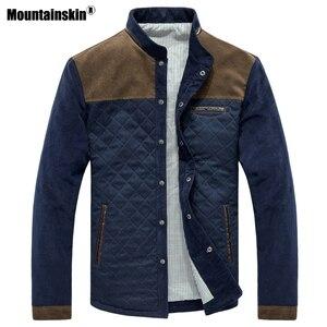 Image 1 - Mountainskin wiosna jesień męska kurtka strój baseballowy wąski płaszcz w stylu Casual męskie ubrania marki modne płaszcze męskie odzież wierzchnia SA507