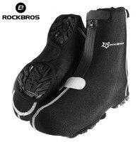 RockBros Bike Shoe Covers Warm Cover Rain Waterproof Protector Overshoes Black