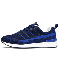 Mesh Breathable Jogging Lacing Men Running Shoes Trail Shoes For Run Light Runner Sport Shoes Shock Absorption Athletic Shoes