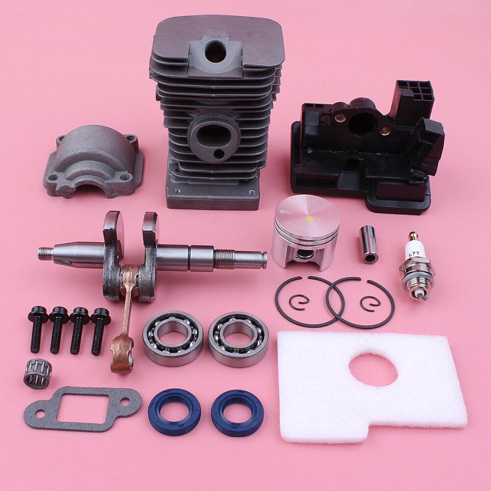 Vilebrequin 38mm Cylindre Piston Moteur Pan Filtre À Air Boîtier Portant Joint D'huile Kit Pour Stihl MS180 018 MS 180 tronçonneuse Pièces