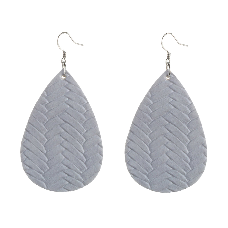 New Teardrop Leather Earrings Petal Drop Earrings Antique Lightweight S925 Carved Stainless Steel Earrings For Women Gifts 12
