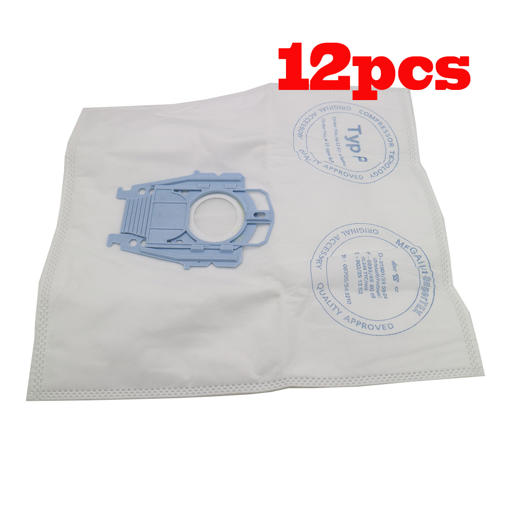 12pcs good quality Vacuum Cleaner Microfleece Type P Filter Dust Bag for Bosch Hoover Hygienic professional BSG80000 468264 free shipping vacuum cleaner dust bag fit for genuine bosch vacuum cleaner hoover dust bags type p 468264 461707 pack of 10
