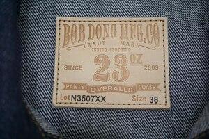 Image 4 - BOB DONG 23oz Selvage Denim Jacket Vintage Clothing 507XX Trucker Selvedge Coat
