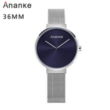 Ananke Fashion Simple Watch Women Stainless Steel Strap Quartz Waterproof Clock Top Brand Luxury Lovers Watch Female Version все цены