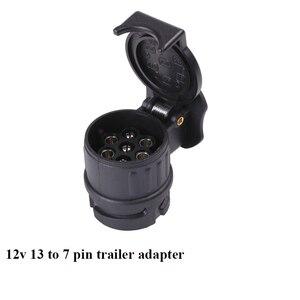 Image 2 - AOHEWEI 12V 13 Pin plug to 7 Pin socket  trailer adapter plug  trailer truck connector  plug socket 13 to 7 pin towing adapter