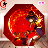 Anime Cartoon Umbrella Personality Rain Umbrellas Girls And Boys Fashion Student Plegable Sombrillas Paraguas Mujer QHDM