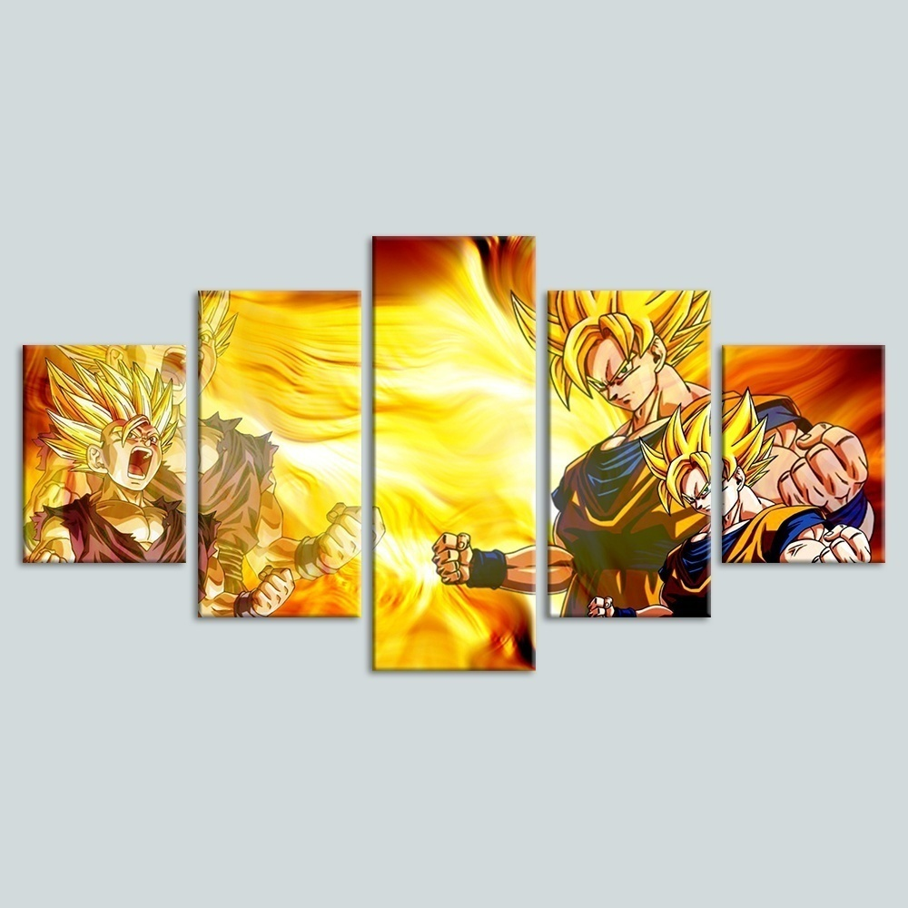 Anime Dragon Ball Fighting Drawing Painting for Living Room HD Picture on Canvas Wall Art for Children's Room Home Decor 3