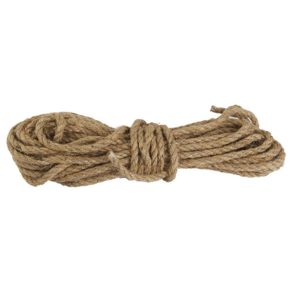 15M 6mm Jute String Twine Twisted Hessian Burlap Hemp Cord Rope
