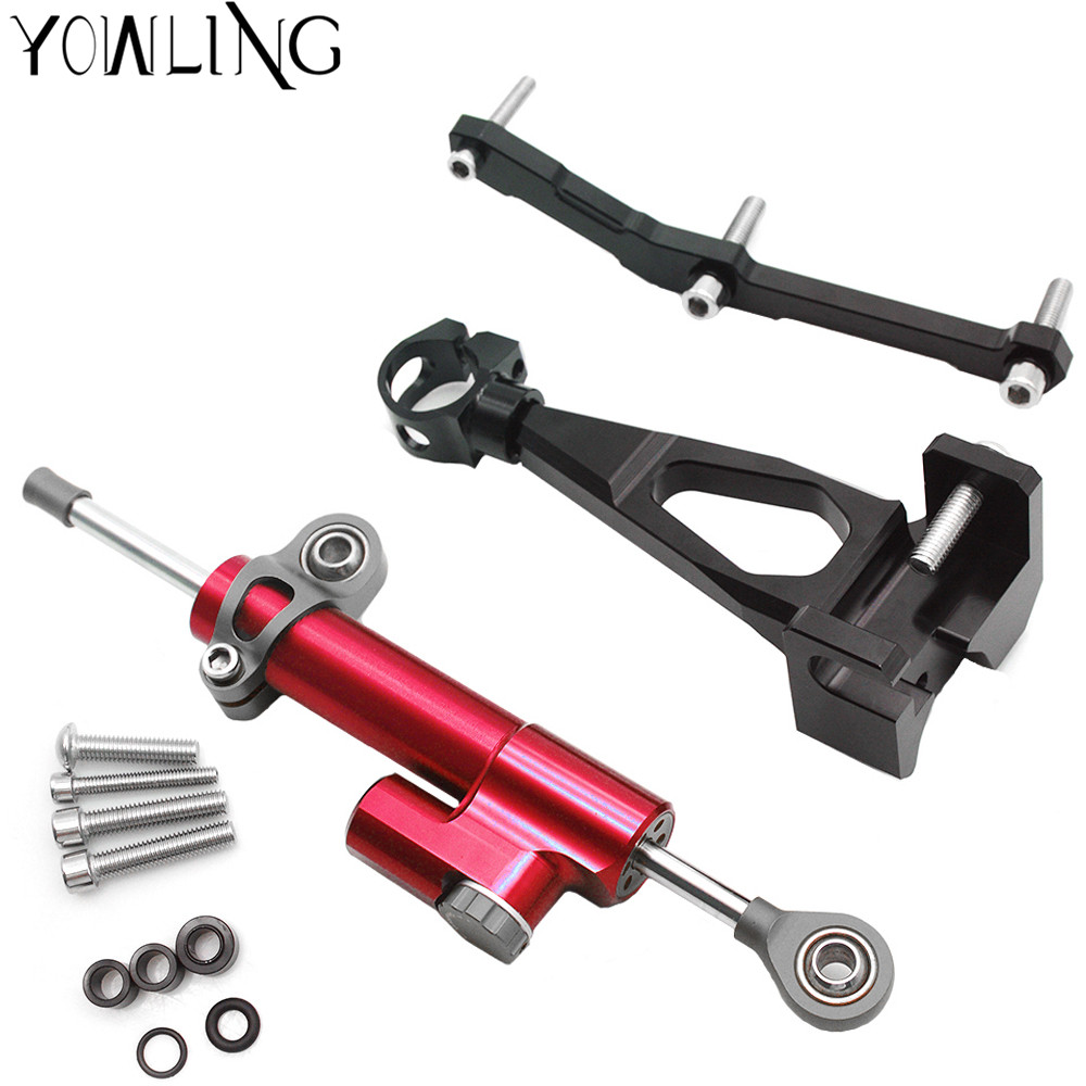 For YAMAHA MT-09 MT 09 FZ09 FZ-09 2013 - 2016 Motorcycle Steering Stabilize Damper with Bracket Mount Motorbike Damper SteeringFor YAMAHA MT-09 MT 09 FZ09 FZ-09 2013 - 2016 Motorcycle Steering Stabilize Damper with Bracket Mount Motorbike Damper Steering