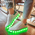 2017 Led Simulação Sapatos Para Adultos Mulheres Moda de Alta Qualidade LED Luminosos Sapatos Casuais Sapato levou as mulheres sapato branco
