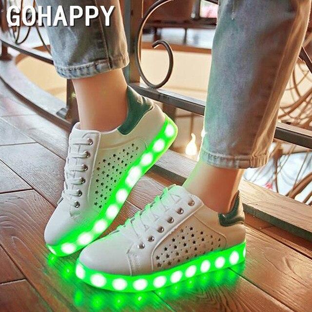 2017 Simulation Led Shoes For Adults Fashion High Quality Women LED Luminous Shoes Casual Shoe led women white shoe