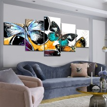 5 Piece HD Print Large Butterflies Abstract Art Modern Decorative Paintings on Canvas Wall for Home Decorations Decor
