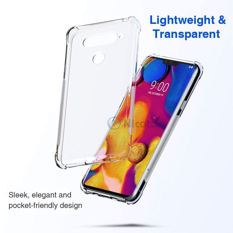 Ultra thin Clear Transparent TPU Silicone Case For LG V50 V40 V30 G8 V35 ThinQ V20 K11 plus Phone back cover for LG G7 Q9 Q6 G6 (4)