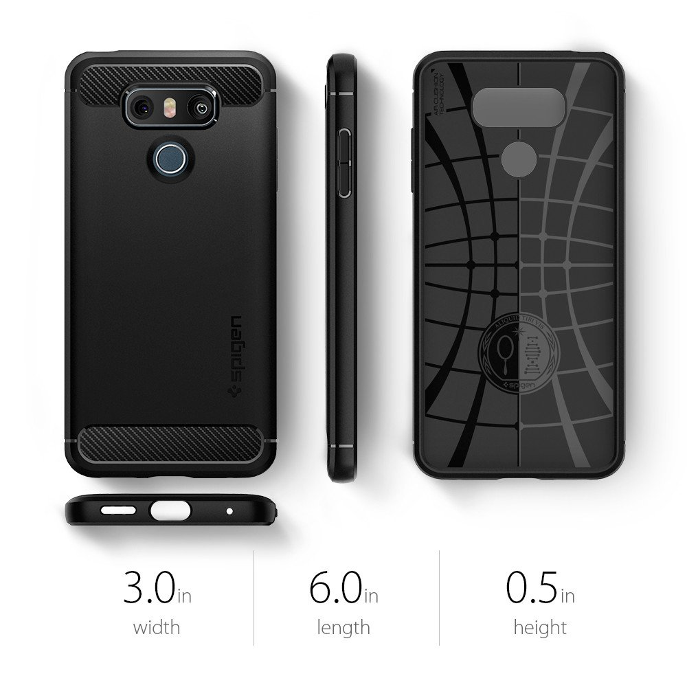 sports shoes 7317e af902 US $16.99 |100% Original SPIGEN LG G6 G6+ Case Rugged Armor Case Black  A21CS21230-in Fitted Cases from Cellphones & Telecommunications on ...