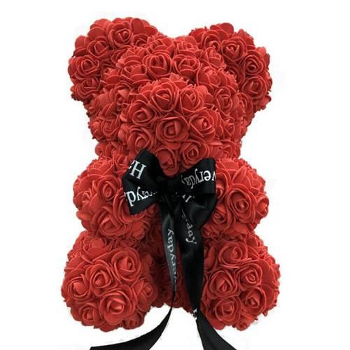 Flower Rose Wedding-Gift Creative Soap XP04 9-25cm Teddy Favor Pink Valentine's-Day Girls
