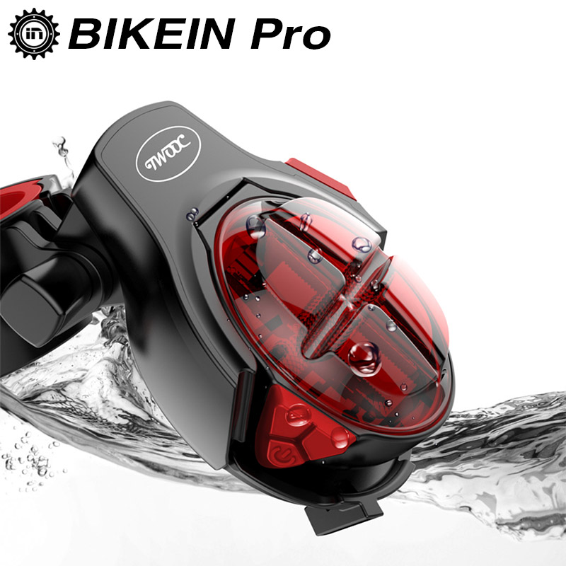 BIKEIN Mountain Bike LED Flashing Rear Light Safety Tail Lamp Warning Lights For Bicycle USB Charge