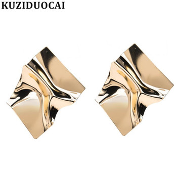 Kuziduocai New Fashion Jewelry Punk Bohe Geometric Contortion Statement Drop Earrings For Women Aretes Brincos Bijoux E-1512 image