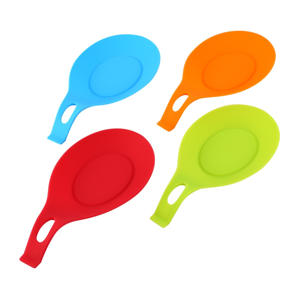 Silicone Heat Resistant Placemat Silicone Spoon Insulation Mat Drink Glass  Coaster Tray Hot Sale Spoon Pad