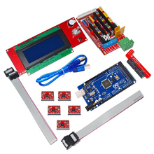 2017 Newest 3D Printer Controller RAMPS 1.4+ Mega 2560 R3 + 5 * A4988 2004 LCD Controller for DIY RepRap Free Shipping