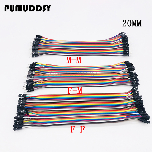 40pcs 20cm male to male + male to female and female to female wire Dupont cable Dupont line