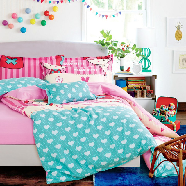 Polka Dot Duvet Cover Hello Kitty Comforter Sets Hello Kitty Bed Sheets  Kids And Girls Bedding