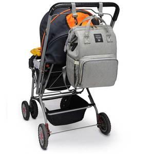 Image 2 - Lequeen USB Mummy Maternity Nappy Bag Brand Large Capacity Baby Bag Travel Backpack Designer Nursing Bag for Baby Care