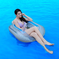 102cm Giant Air Mattress Inflatable Pool Float Ride On Swimming Ring For Adult Women Men Child Water Safe Chair Beach Party Toys