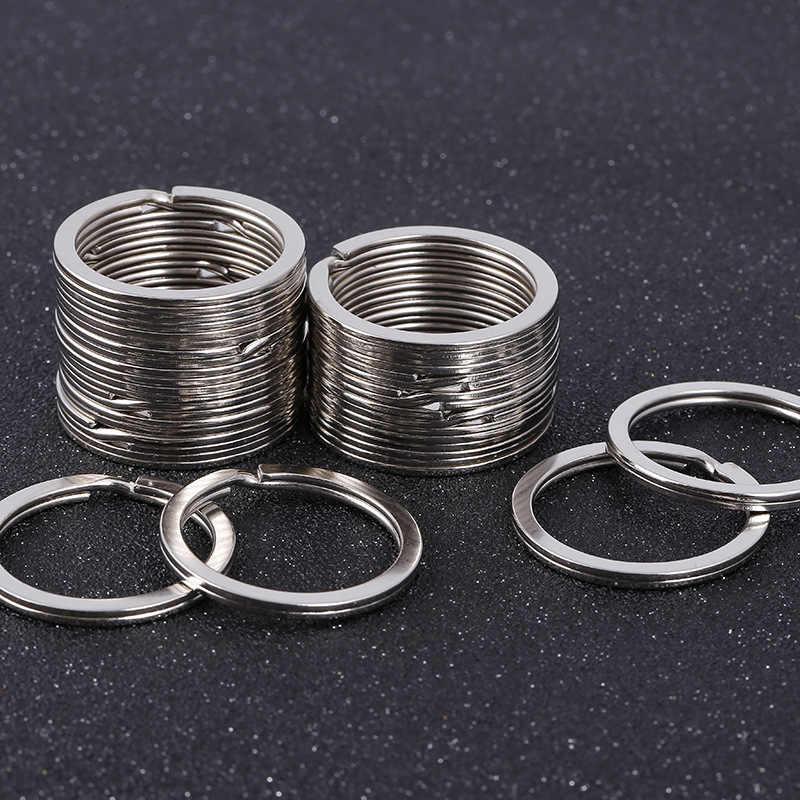 Alta qualidade 2.0x30 milímetros anel chave Chaveiro Pendurado cadeia Charme Chaveiro Anel Acessórios 5 pcs