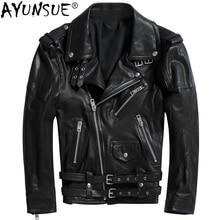 AYUNSUE Genuine Leather Jacket Men Clothes 2020 Real Sheepskin Jackets