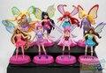 8pcs/lot Winx Club Doll PVC Figures 8cm Dolls For Girls Winx Club Angel Figures