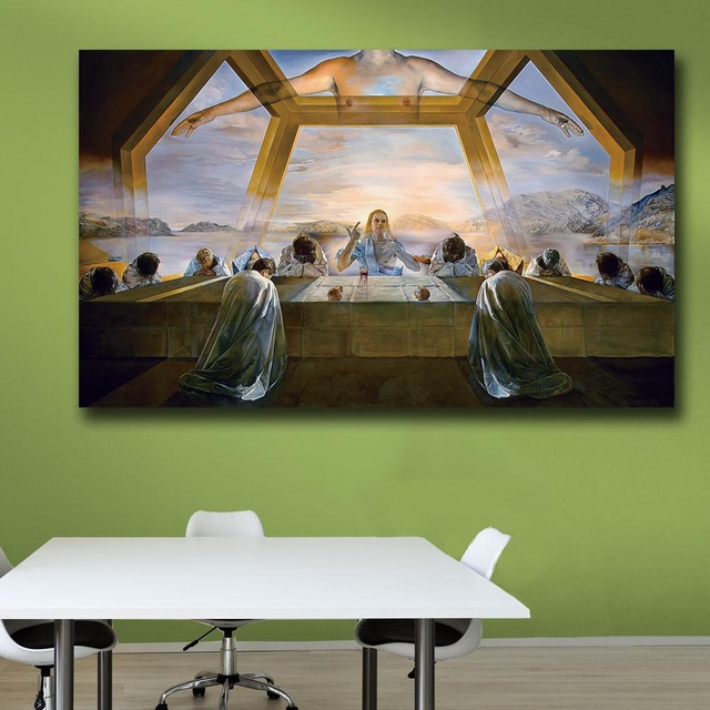 Salvador-dali-The Sacrament of the Last Supper Paiting Home Decor On Canvas Modern Wall Art Canvas Print Canvas Painting 1
