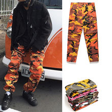 2017 high quality camouflage Men Pants Full Length Trousers street wear cool man fashion hip hop Loose cargo pants