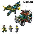 241PCS Military Air Defence Fighter Hummer Model Bricks Army Soldier Pilot Figures Building Block Enlighten Toy For Boy Gift