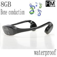 WT-903 IPX12 Nivel impermeable Soporte de Mp3 Stereo Music auricular de Los Auriculares de conducción ósea Auricular Inalámbrico Función Incorporada de FM