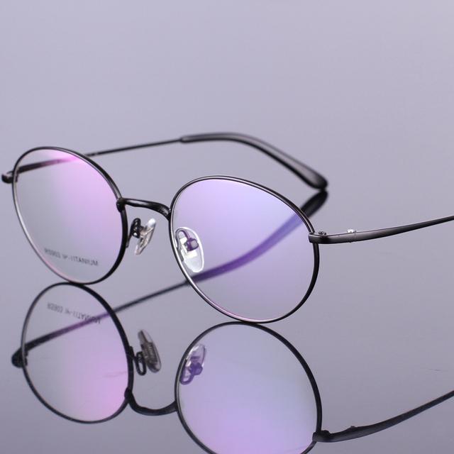 Nueva Ronda De Titanio Anteojos Ópticos Monturas de gafas Vendimia Gafas de Prescripción