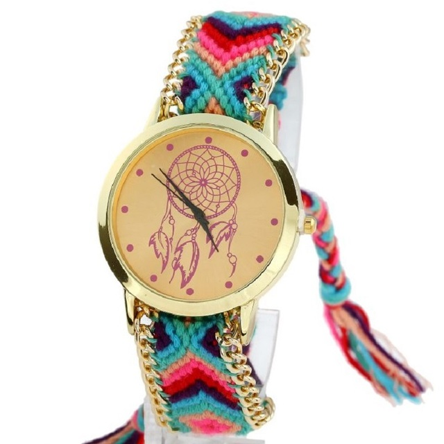 Gnova platinum Women Dream Catcher Watch atrapasuenos Fashion wristwatch Ethnic