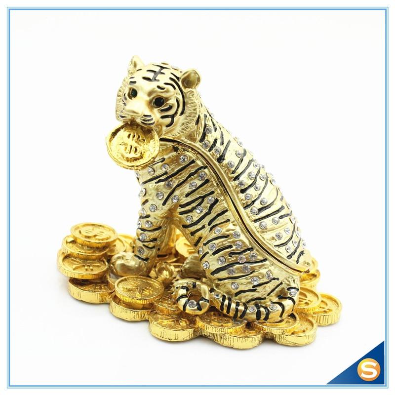 Home Decoration Tiger With Money Trinket Box Lucky Animal Trinket Box SCJ413