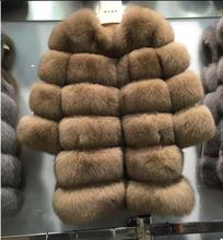 New 2017 Milan Fur collections Real Fox Fur coats and jackets for Women Luxury Fur coats outerwear