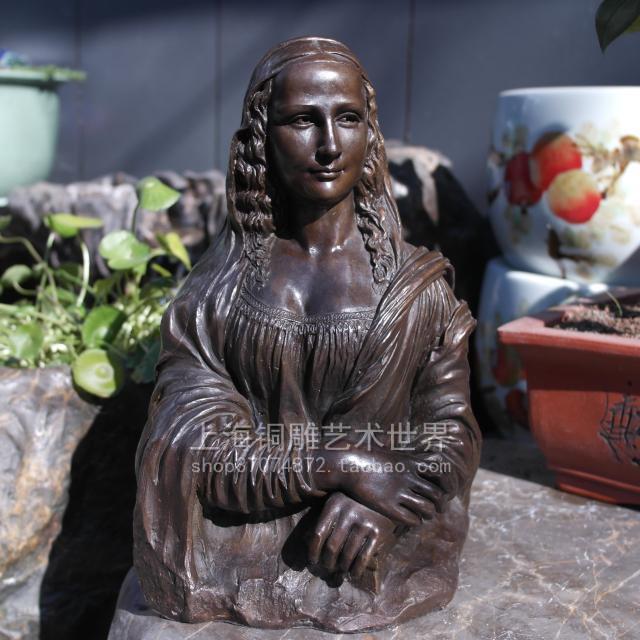 Monalisa bronze sculpture crafts European classical statue art decoration decoration Home FurnishingMonalisa bronze sculpture crafts European classical statue art decoration decoration Home Furnishing