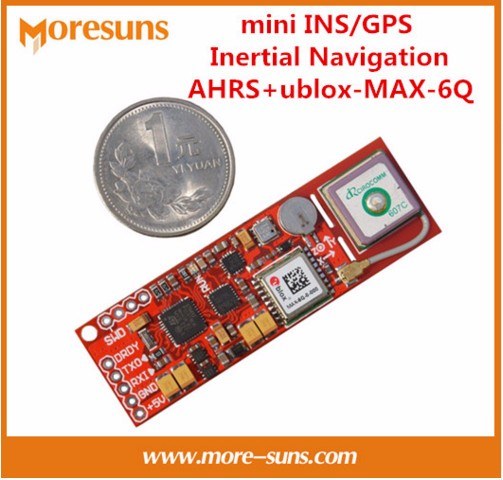 Fast Free Ship 2pcs/lot for mini INS/GPS Inertial Navigation AHRS+ublox-MAX-6Q built-in GPS antenna+STM32 master control module fast free ship 2pcs lot 3g module sim5320e module development board gsm gprs gps message data 3g network speed sim board