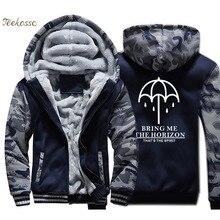 Umbrella Hoodie Men Band Music Punk Rock Hooded Sweatshirt Coat Winter Brand Thick Fleece Warm Hip Hop Streetwear Kpop Jacket